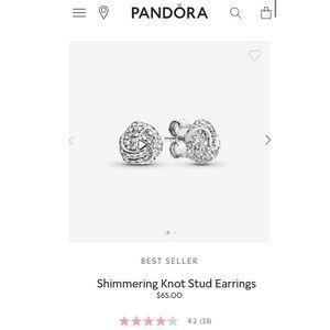 Pandora Shimmering Knot Studded Earrings